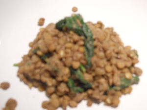 Lentils with Healthy Greens & Goat Cheese